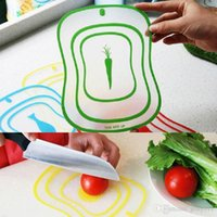 Wholesale Drop Shipping PC Flexible Ultra Thin Kitchen Tool Fruit Vegetable Cutting Chopping Board Mat Color Random HG P