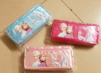 Wholesale sale hot Frozen princess Elsa anna Pencil case Bag Red NEW Children Girl s Cartoon Fashion Pencil Bag