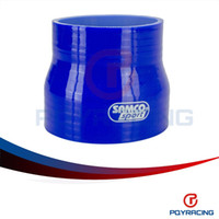 Wholesale PQY STORE BLUE quot quot mm mm SILICONE HOSE STRAIGHT REDUCER JOINER COUPLING PQY SH35040