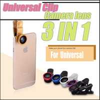 Wholesale New LIEQI IN Universal Clip Camera telephoto lens Wide Angle Macro Fisheye Lens case for iphone s PLUS Ipad Samsung HTC