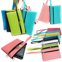 bg travel - Hot Sale High Quality PU Solid Double Pull Large Cell Phone Pocket Phone Bag convenient shipping travel Colors BG