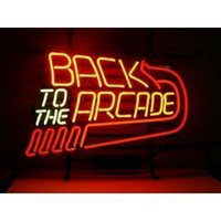 arcade sign - BACK TO THE ARCADE NEON SIGN HANDICRAFT REAL GLASS TUBE BEER BAR LIGHT GAME ROOM HOME x15 quot