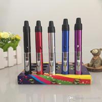 Wholesale click n vape vaporizer pen Mini Herbal Vaporizer sneak A vape smoking pipe Trouch Flame Lighter with built in Wind torch butane pen