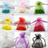 Wholesale Organza Drawstring Gift Bags cmx15cm quot x6 quot Necklace Bangle Bracelet Jewelry Pouches Fashion Wedding Candy Favors