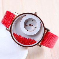 replicas watches - New diamond quicksand fashion casual watches luxury replicas leather strap watches for women big face quartz wrist watch