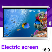 Wholesale Home Cinema inch Electric Motorized Projection HD LCD LED DLP Projector Screen