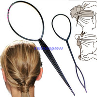 Wholesale 2PCS Plastic Magic Topsy Tail Clip Headwear Hair Tools Styling Casual Pony Fashion Salon Accessory Twist Braid Ponytail Maker