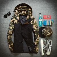 Wholesale Fall Autumn winter men warm outdoor camouflage jackets and coats parka manteau homme men camo down jacket cotton padded windbreaker