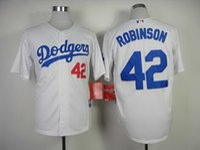 Wholesale Jackie Robinson Jersey Los Angeles Dodgers Jersey baseball Jersey Sport Jerseys Embroidery Logos white grey beige