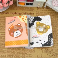 Wholesale Korean Creative Stationery Cute Animal Cartoon Notebook Diary Book Notepad free mail