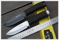 Cheap new Black BUCK 009 hunting knife fixed blade Straight knife Camping Knife Survival Knife knives Black blade