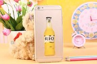 plastic cup beer - New Fashion Luxury Red Wine Cup Beer Bottle Cocktail Liquid Transparent Case Cover For Apple iPhone plus phone back cover