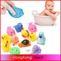 baby inflatable tub - 13Pcs Rubber Float Swimming Toys Sounding Animals Baby Kids Bath Toys Wash Pool Tub Soft Float Play Water