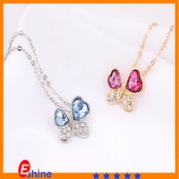 Cheap Korean version of the necklace Gemstone crystal aolly geometric nacklace jewelry vintage Flash diamond chain fashion shinnning nacklace