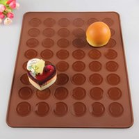 Wholesale Free Fedex Cavities double faced Silicone Macaron Mat macaroon mould silicone macaron baking sheet