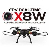 Wholesale 2016 SYMA X8W FPV RC Drone Quadcopter with Real Time WiFi Transmission Camera Headless Big Quad copter vs DJI Phantom