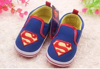 Wholesale Hot Fall baby shoes superman toddler shoes Leisure soft bottom children shoes kids shoes cheap newborn shoes infants shoes