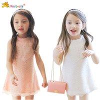 Wholesale children clothes summer girls cute Heart diamond lace sleeveless dress princess dresses dandys