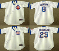 andre baseball - Cheap Chicago Cubs MARK GRACE ANDRE DAWSON RYNE SANDBERG Home throwback Baseball Jersey stitched S XL