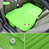 Seat Cushion car pillow - Portable Folding Car Air Mattress with Air Pillow Inflatable Air Bed Cushion Camping Outdoor Travel Furniture Multi Color SK565