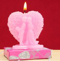Wholesale Love Candles Favors Birthday candles Valentine Wedding Couples candle smoke free Birthday And Wedding Gifts