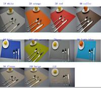 Wholesale High Grade Placemats Table Mat Dining Mat Textilene PVC Insulation Anti Slip Pad Antibacterial Flame Retardant cm Reusable