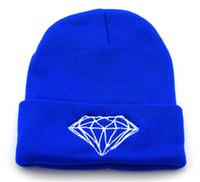 Prezzi Wool hat-Nelle donne stock diamante Handmade Beanie maglia Beanie lana crochet Via hip hop del cappello unisex cappello invernale
