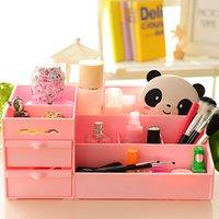 plastic drawer storage box - Finishing dresser drawer storage box Korean large plastic storage box cosmetic Desktop Desk