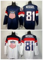 Cheap 2014 Olympic 81 Phil Kessel USA Jersey Sochi Winter Team USA Ice Hockey Jersey American Phil Kessel Olympic Jersey Blue