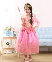 beauty girl games - princess aurora costume for girls aurora sleeping beauty dress kids dress baby cosplay sleeping beauty aurora child costume