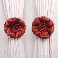 Wholesale Newly Design Flower Window Curtain Hook Fastener Buckle Holder Home Decoration Aug4