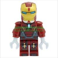 Wholesale HOT sale classic toys minifigures The iron man series Mini Figures Blocks Toy for lego Avengers Souptoys for children