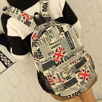 Backpack Style Men Others Wholesale-Map Backpack Flag 2015 New Canvas Newspaper Usa Flag Backpack Extra Large Travelbag School Bags For Girls Bolsos Escolares