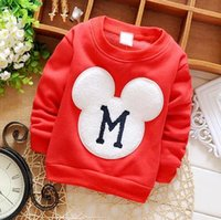 Wholesale new autumn and winter boys and girls clothing baby cute cartoon fleece sweater