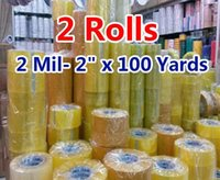 Wholesale 2 rolls Mil quot x Yards Packing Tape Adhesive Tape Film Paper Adhesive Strapping Gift Ribbon Office Adhesive Tape A2