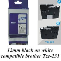 printer ribbon - 12mm m black on white Tze compatible brother label tape P touch Tze231 Printer Ribbons Printer Supplies Office