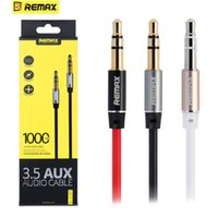 Cheap New 3.5mm Remax AUX Cable 100cm 3ft Male to Male Plug Jack for iPhone iPod Mobile Headphone Loudspeaker MP3 CD Player Audio Wire DHL