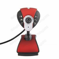 Wholesale Red USB Led Camera Web Cam with Mic Night Vision for Desktop PC Laptop