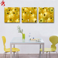 apple kitchen decor - Yellow apples paintings for kitchen cuadros decor modular painting posters prints cheap modern canvas art wall living room