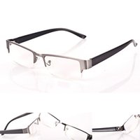 aspherical lens - Dynamic Fashion Unisex Reading Glasses Aspherical Resin Lenses Half Frame Glasses