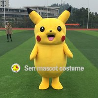 Wholesale High Quality Pikachu Mascot Costume Popular Cartoon Character Costume For Adult Fancy Dress Party Suit