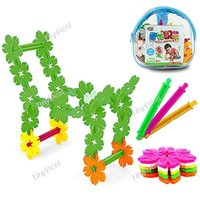 Wholesale 108pcs Plastic Snowflake Building Blocks Educational Intelligence Toy with Storage Bag sets
