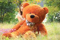 al por mayor osos de tamaño natural de cumpleaños-Caliente venta nuevo 160CM vida tamaño ositos muñeca peluche juguetes grandes gigantes gran oso de peluche para venta San Valentín #039; s/regalo de la Navidad