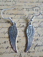 bali silver earrings - Pair Fashions Antiques Silver Bali Style Angel Wings Bead Dangle Earrings For Women With Gift Box DIY Jewelry M2828