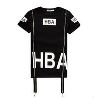 100 cotton white t shirt - 2016 Men Fashion Hip Hop T Shirt Zipper Side HBA Hood By Air Harajuku t shirts for men Spinal Cord X ray Streetwear Tees