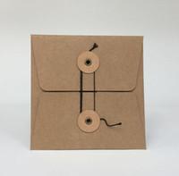 Wholesale Durable Kraft Paper CD DVD Sleeves Case Envelopes Packing Packaging Bags Box Paperboard Cardboard