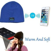 Wholesale Soft Warm Beanie Hat Wireless Bluetooth hat Smart Cap Headphone Headset Speaker Mic For iPhone6s iphone5s Samsung S6 S6EDGE Smartwatch