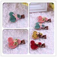 baby handmade cards - Xayakids Hairpin Korean winter children s cartoon hairpin handmade wool duckbill clip children card headwear accessories Baby Headband