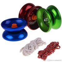 Wholesale Aluminum Design Professional Magic YoYo T5 Ball Bearing String Trick Alloy Kids Children yo yo Toy east