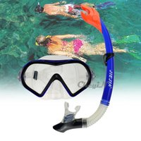 Wholesale JIEJIA Swimming Diving Glasses Protective Goggle Breathing Tube Snorkeling Mask Dry Snorkel Set YJ035 H30